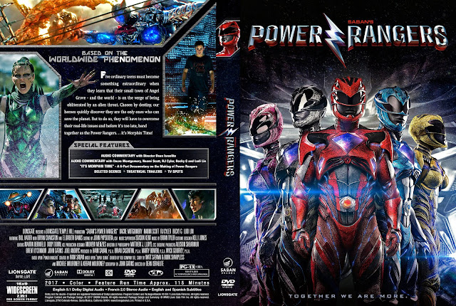 Power Rangers (2017) DVD Cover