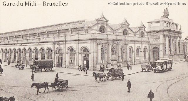 Gare du Midi - Bruxelles disparu (1869-1949) - Fin du XIXe siècle - Bruxelles-Bruxellons