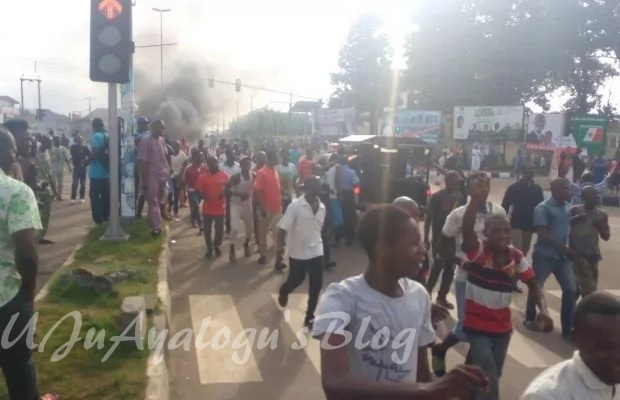 Violent protest erupts as traditional ruler shoots resident to death in Ekiti state