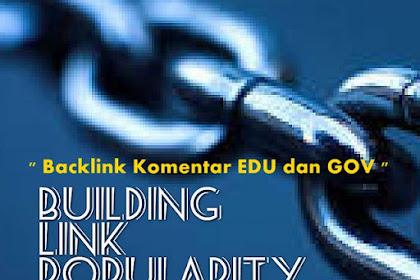 Cara Mencari Backlink Komentar dari .EDU dan .GOV