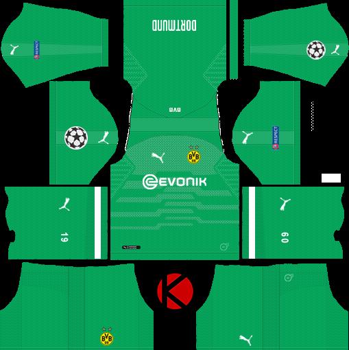 online retailer d1363 60f30 Borussia Dortmund 2018/19 Kit - Dream League Soccer Kits ...