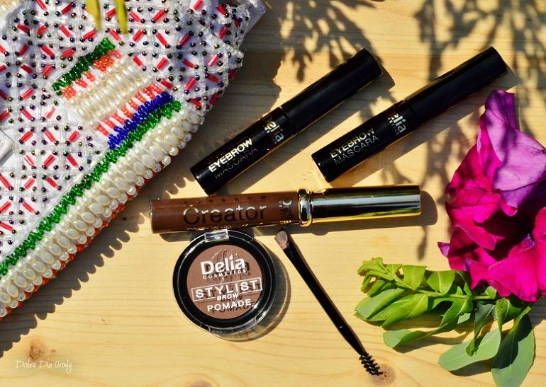 Profesjonalna stylizacja brwi z Delia Cosmetics - Żelowy korektor do brwi, Pomada do brwi i Kremowa maskara do brwi