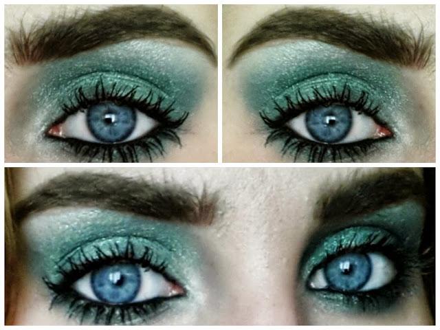 MUA Make-up Acadamy Green Eyeshadow Makeup