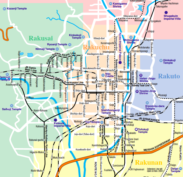 Map Kyoto Japan