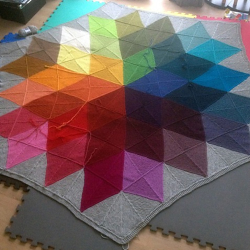 Colour Star Blanket - Free Pattern