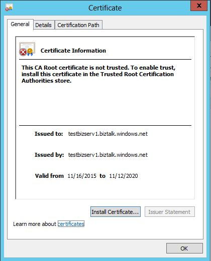 Install Certificate..
