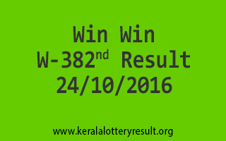 Win Win W 382 Lottery Results 24-10-2016
