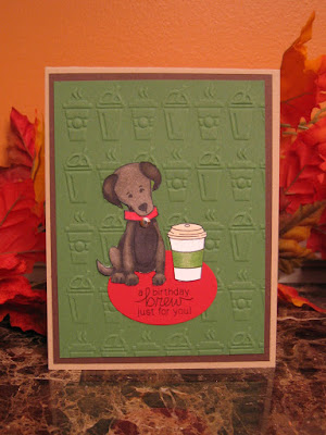 Labrador Birthday Coffee Card by Crafty Math Chick | Fetching Friendship and Newton Loves Coffee stamp sets by Newtons Nook Designs