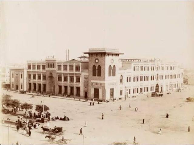 """محطة باب الحديد بالقاهره عام 1886 """"محطة رمسيس"""" Ramses Station"""