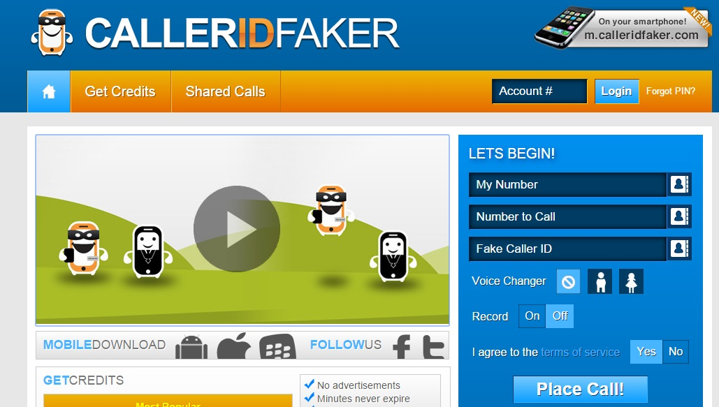 Caller id changer unlimited credits hack