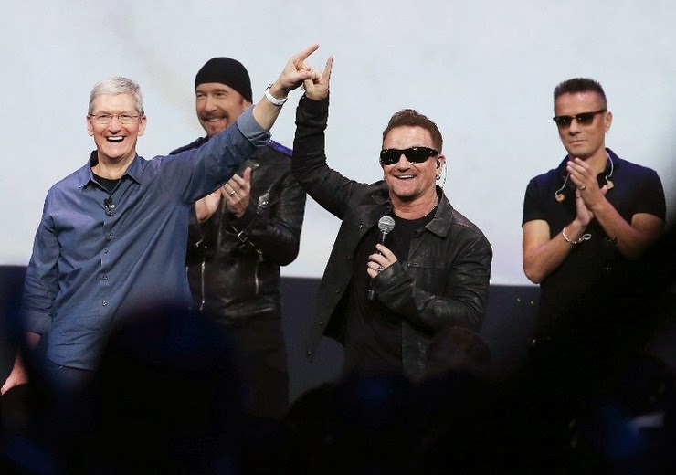 U2 releases new album for free in Apple Big Event 2014