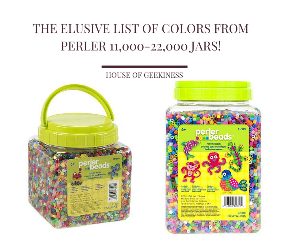 The Elusive List of Colors From Perler 11,000-22,000 Jars