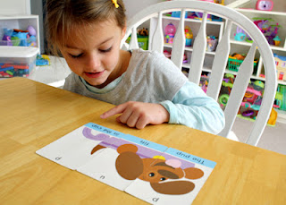 Trend Picture Word Puzzles cards are a fun way to warm up right before settling in for a reading lesson. The cards are two-sided and feature phonetic rhyming text.