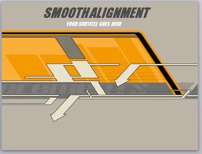 Contoh Template Powerpoint (Smooth Alignment Presentation)