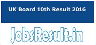 UK Board 10th Result 2016