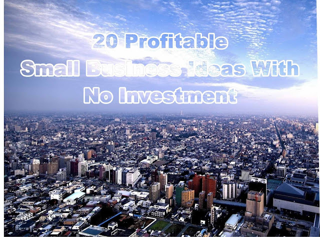 20 Profitable Small Business Ideas With No Investment