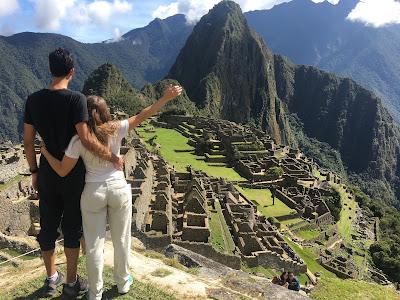 vista al machu picchu y la montaña huayna