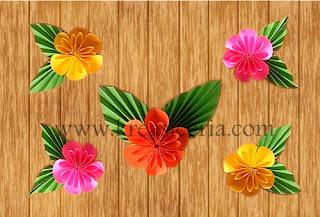 Kreasi origami bunga cantik untuk hiasan dinding