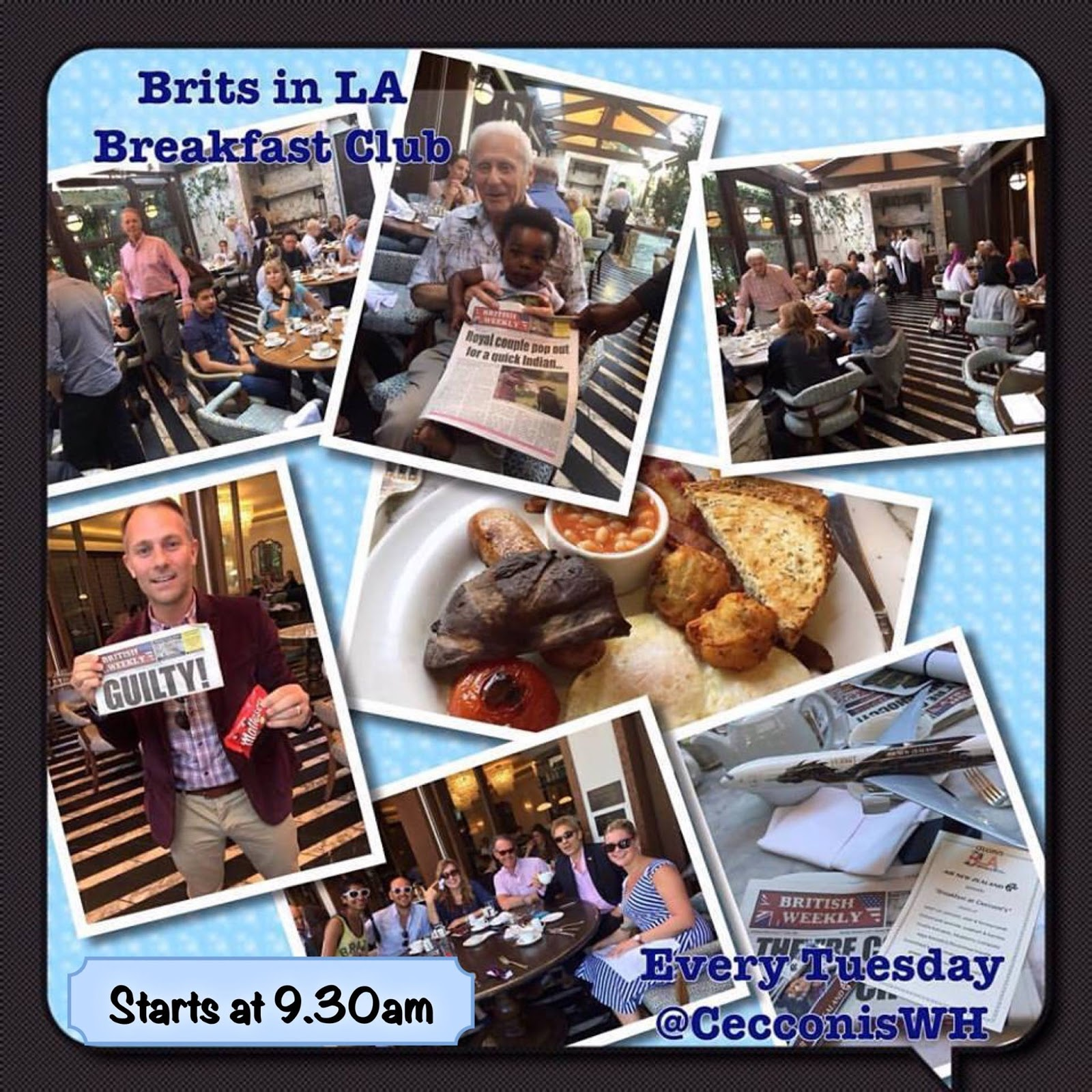 Brits in LA Breakfast Club at Cecconi's West Hollywood