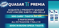 Logo Quasar ti premia: vinci 500 card Tigotà da 25€