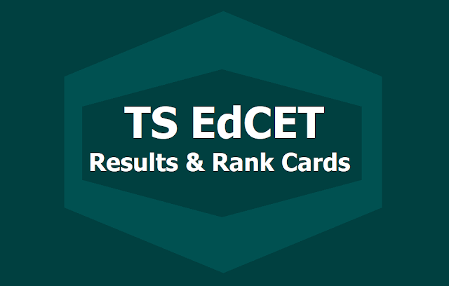 TS EdCET Results and Rank Cards 2019 to be released on June 15