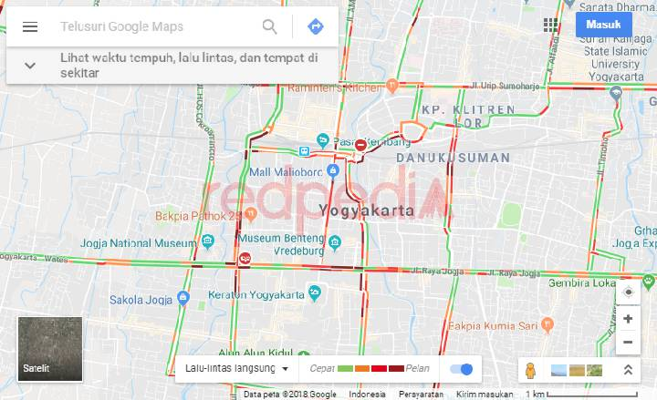 Cara melihat kemacetan melalui maps