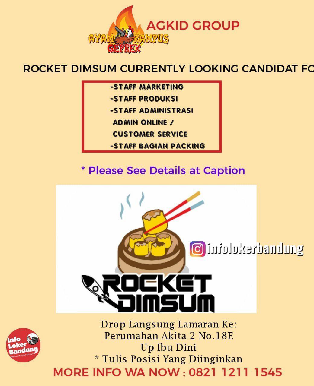 Lowongan Kerja Rocket Dimsum ( AGKID Group ) Bandung April 2019