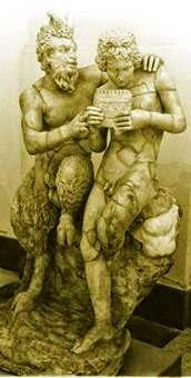 Los dioses Olimpicos Sátiros y Silenos