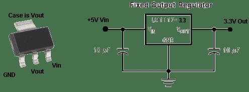 LM1117-3.3V / AMS1117-3.3v