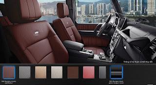 Nội thất Mercedes AMG G63 2018 màu Đỏ Leather ZK8