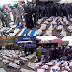 1,100 pump action rifles impounded by Nigerian customs in Lagos .