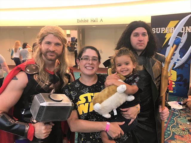 Thor, me, Leia, and Loki. Leia is holding a plush of Einstein from Cowboy Bebop.