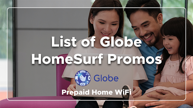 List of Globe HomeSurf Promos - 1GB for P15, 10GB for P349