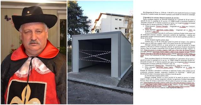 Cum a fost aranjată licitația prin care consilierul PSD George Petrescu a pus mâna pe un teren pentru garaj în centrul orașului, la 2 lei/mp/lună