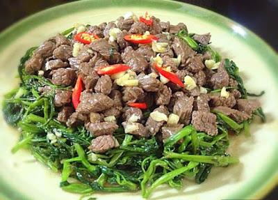 Kết quả món thịt trâu xào rau muống món ăn ngon