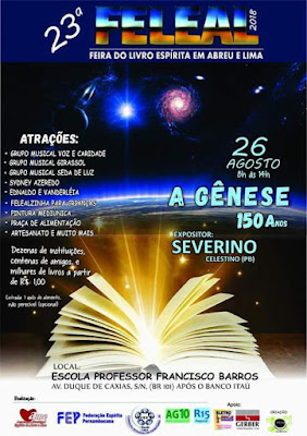 23ª Feira do Livro Espírita em Abreu e Lima/PE