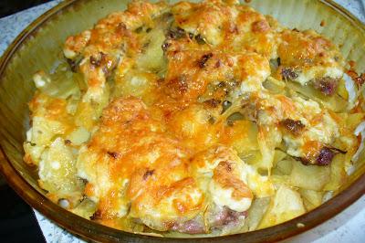 мясо готовое по французски с картофелем