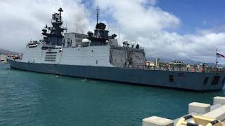 Exercise KAKADU 2018: INS Sahyadri reaches Port Darwin in Australia