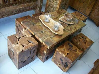 model kursi kayu unik untuk rumah minimalis