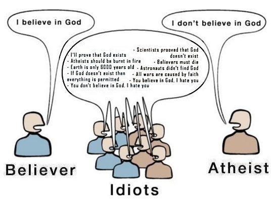 Believer Idiots Atheist Picture