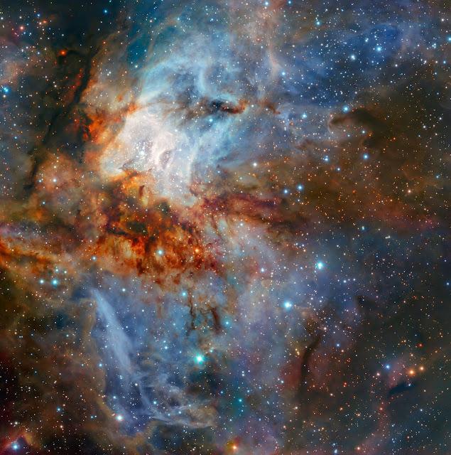 Colourful celestial landscape