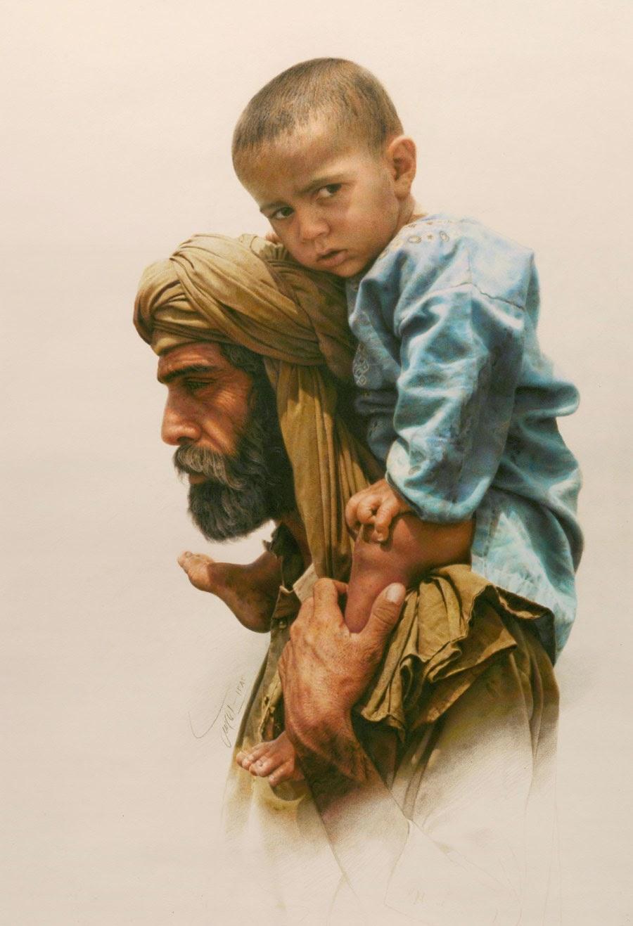 Emigrante - Iman Maleki e suas pinturas realistas ~ Pintor iraniano