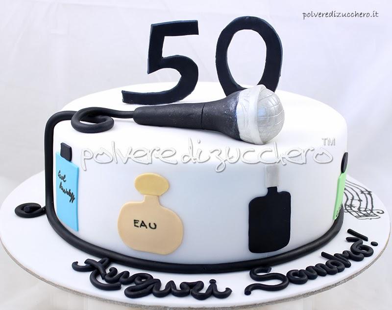 Torta 50 Anni Per Un Appassionato Di Musica E Profumi Polvere Di