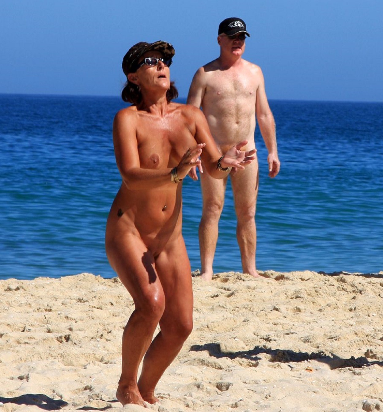Beach nudity