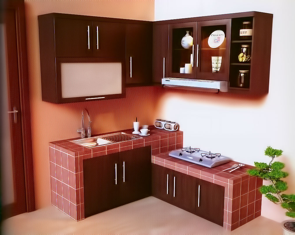 Granit Marmer Top Table Kitchen Set Small House Interior Design