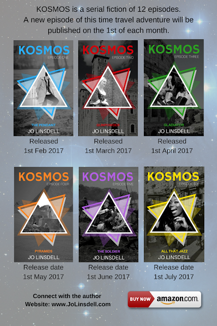 The #KOSMOS series by Jo Linsdell #PreTeen #TimeTravel #Books