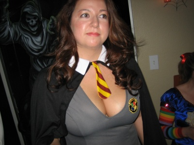 large breasted harry potter costume player