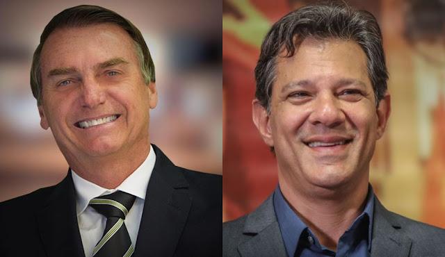 Nova pesquisa da BTG Pactual aponta: Bolsonaro tem 60% dos votos válidos x Haddad 40%