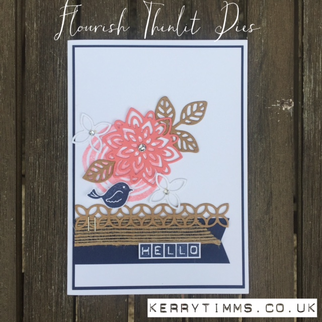 swirly bird stamps kerry timms stampin up card making class gloucester paper craft create crafts creative handmade hobby female invitation flower bigshot Flourish thinlits