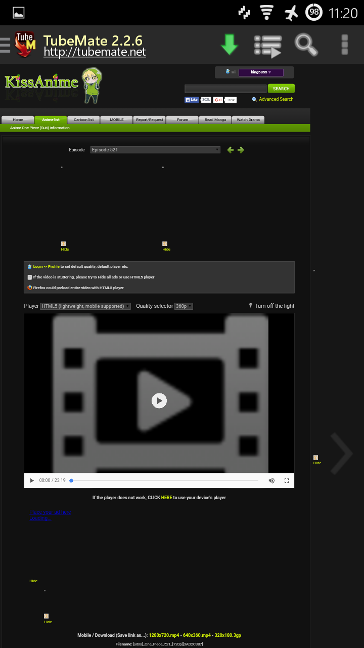 How To Download Anime Episodes From KissAnime (Android